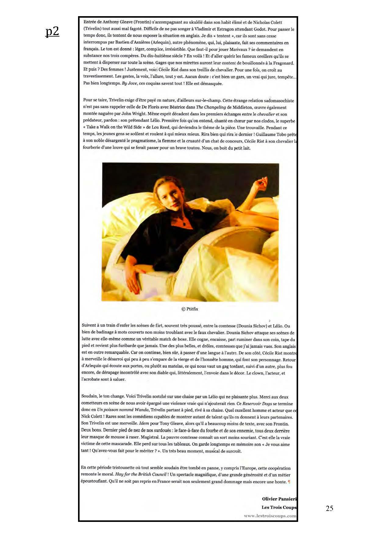 LA NUIT JUSTE AVANT LES FORÊTS - Revue de presse de BordCadre & Cécile Rist_Page_21