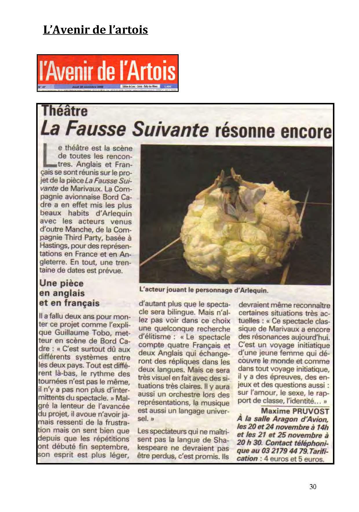 LA NUIT JUSTE AVANT LES FORÊTS - Revue de presse de BordCadre & Cécile Rist_Page_26